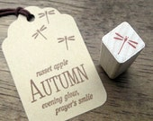 Cute Dragonfly Rubber Stamp - SMALL Dragonfly Craft Rubber Stamp