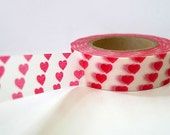 Small Red Hearts Washi Tape Japanese