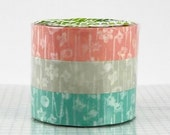 Small Flower Washi Tape Set of 3 Japanese Washi Paper - PrettyTape
