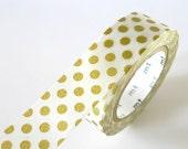 Japanese Gold Washi Tape BIG Dots 15mm Japanese MT Gold Masking Tape - diy Wedding Invitation Seal Bridal Shower  PrettyTape