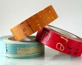 Graffiti Washi Tape Set DARK (A) Artistic Collage Japanese Masking Tape Set of 3