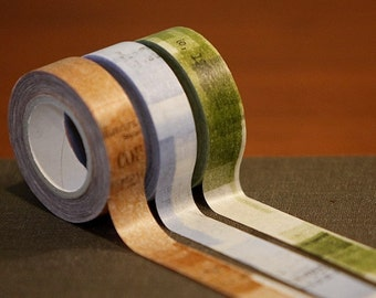 Collage Japanese Masking Tape Set of 3 - 15mm Washi Tape