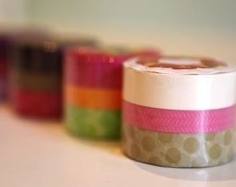 Cute Japanese Washi Tape - Deco Tape CREAM CAKE - Set of 3