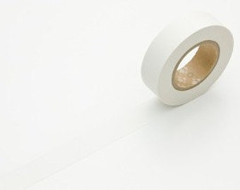 Japanese Washi Tape - SOLID WHITE 15mm - mt