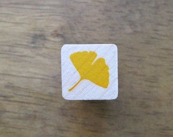 Ginkgo Stamp Mini Ginkgo Leaf / Ginko Rubber Stamp