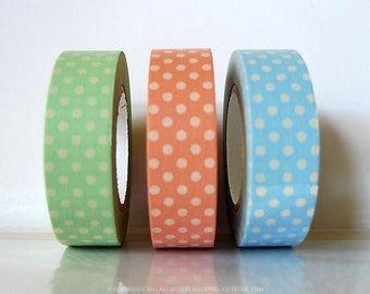 Pastel Polka Dots Japanese Washi Tape (CHOOSE)