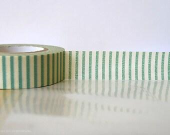 Vertical GREEN STRIPE Washi Tape Japanese