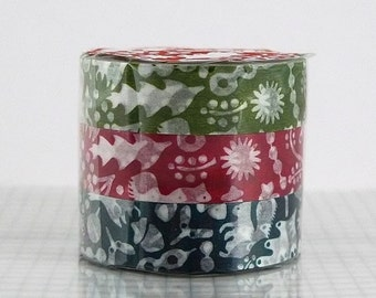 Fall washi tape Fall Leaves Squirrel washi tape Fall decoration Fall Decor Japanese Washi Tapes - Set of 3