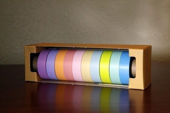 Pretty Japanese masking tape pack of 10 - Light Pastels