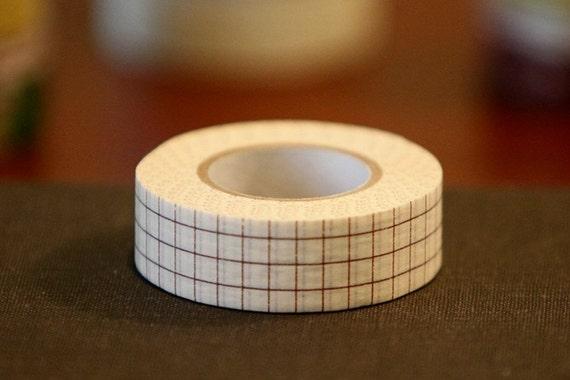 Japanese Masking Tape 18mm BROWN Grid Graph Paper  Washi Tape SINGLE