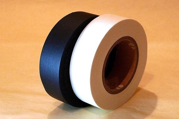 Japanese Washi Tape - Solid Black and White ( Set of 2 Cuties )
