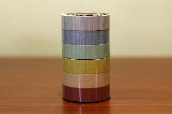 Japanese Masking Tape Pack of 6 - Pretty EARTH TONE Colors