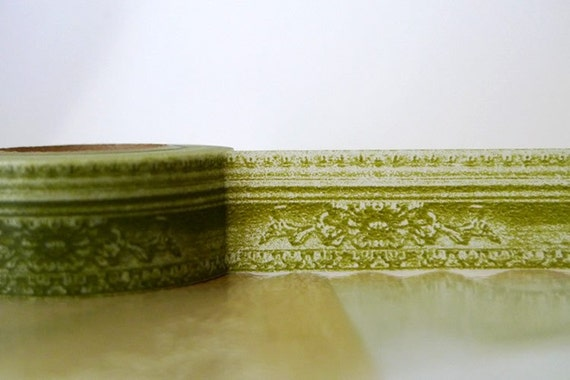 Japanese Washi Tape - Picture Frame Border Pattern 20mm GREEN