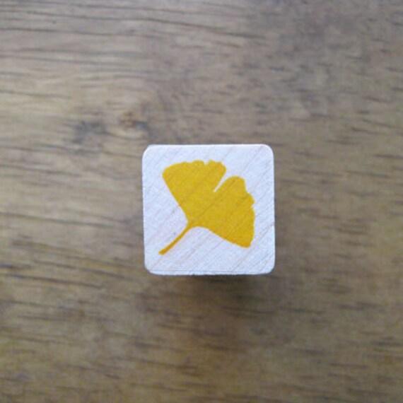 Ginkgo Stamp Mini Ginkgo Leaf / Ginko Rubber Stamp