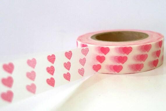 Pink Small Hearts Japanese Washi Tape