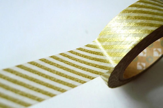MT Gold Washi Tape Japanese Gold Stripe- PrettyTape