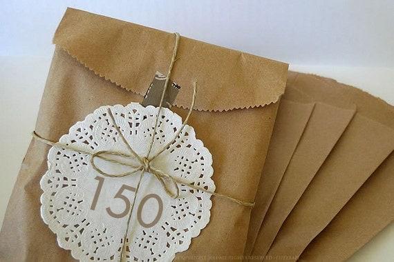 150 BLANK 5x7 Paper Bags Kraft Bag Gift Packaging
