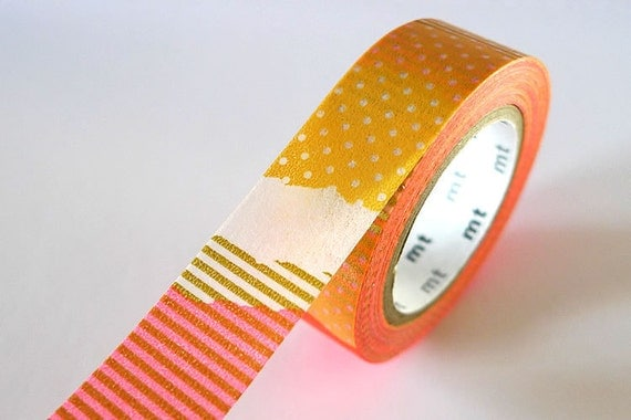 PATCH Collage Orange Washi Tape Japanese Pretty Tape