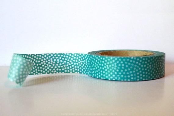 From Sweden Washi Tape Aqua Fan Dots  (Chugoku) Paper Tape