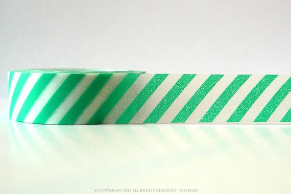 Striped Turquoise Washi Tape