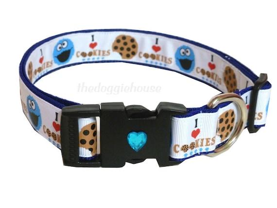Dog Collar Cookie Monster - 18 adjustable to 28