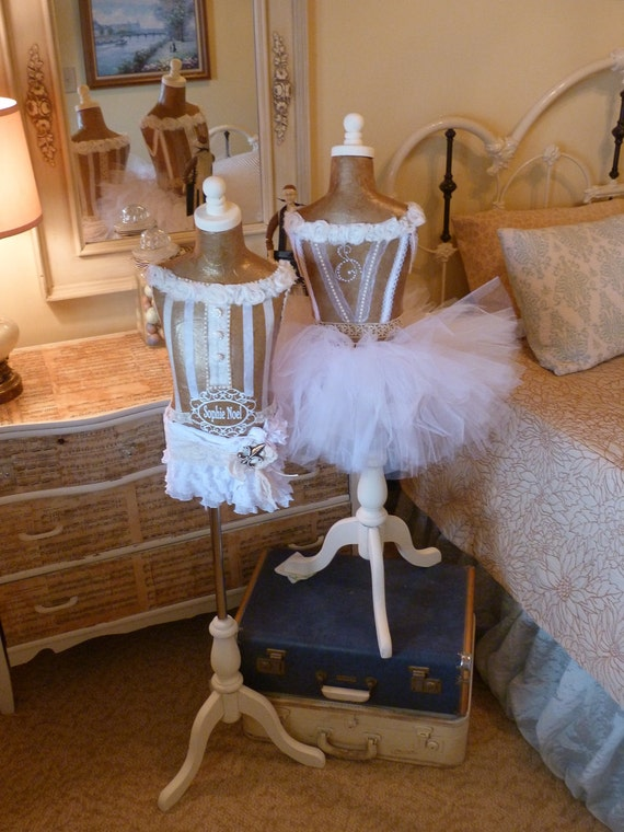 Vintage Girl's Mannequin Dress Form Princess Room DecorLace Custom Crown French Paris LAYAWAY AVAILABLELAYAWAY AVAILABLE