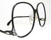 Vintage Tura Black Big Lens Eyeglasses Eyewear Frame NOS