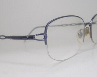 Vintage Purple 70s Eyeglasses Eyewear Frame NOS