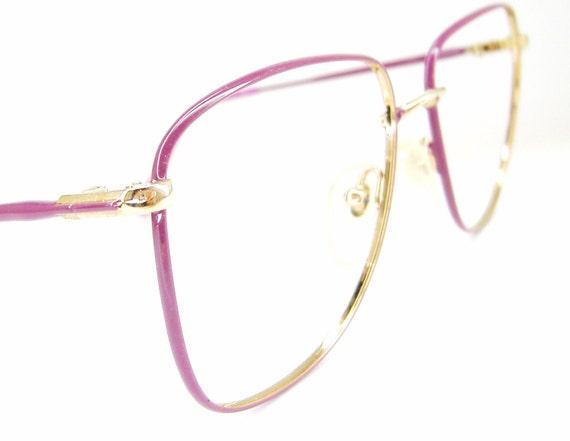 Vintage Tura 1960s Purple Big Lens Eyeglasses  Frame  NOS