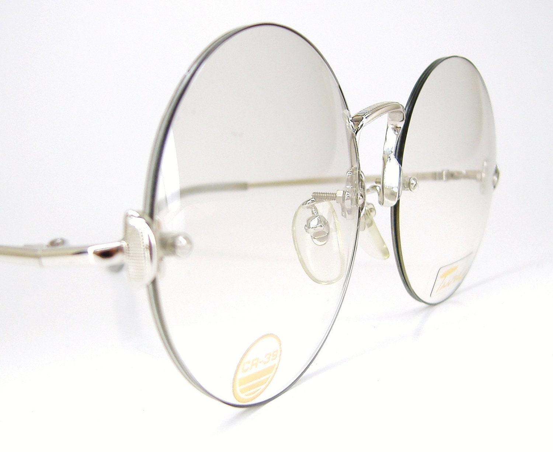 Eyeglasses Frames Rimless : Vintage Rimless Round Eyeglasses Frame by VintageOpticalFrames