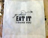 Halloween Favor/Treat Glassine bags Eat it I dare you set of 15