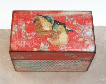 Personalized Recipe Box  Indian Summer