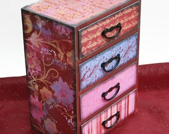 Girls Jewelry Box Large Rose Rapture Personalized