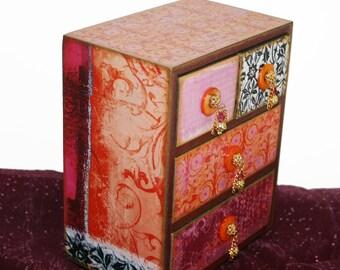 Custom Decorative Jewelry Box Chest Bohemian Soho Made to Order