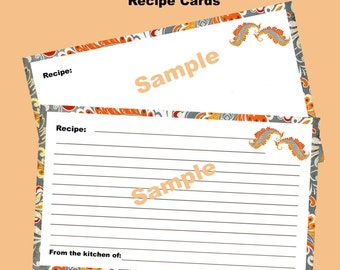 Recipe Cards Editable and Printable Instant Download Digital Sheet Spiced Chutney