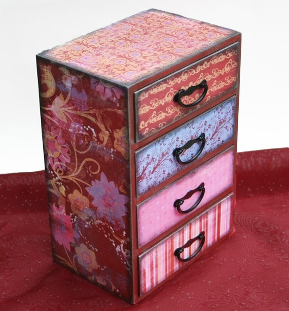 Girls jewelry box large rose rapture personalized for Girls large jewelry box