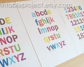 Nursery art baby nursery decor kids wall art colorful child's art printable PDF file alphabets, numbers, days, periods set