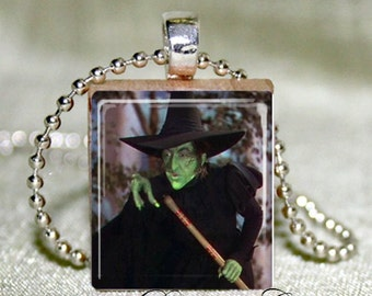 Wicked Witch Of The West  Wizard Of Oz Scrabble Necklace