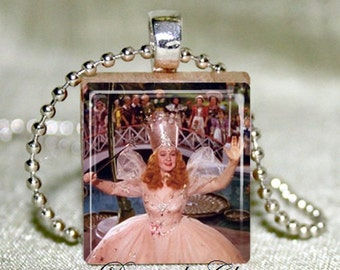 Glenda Good Witch  Wizard Of Oz Scrabble Necklace
