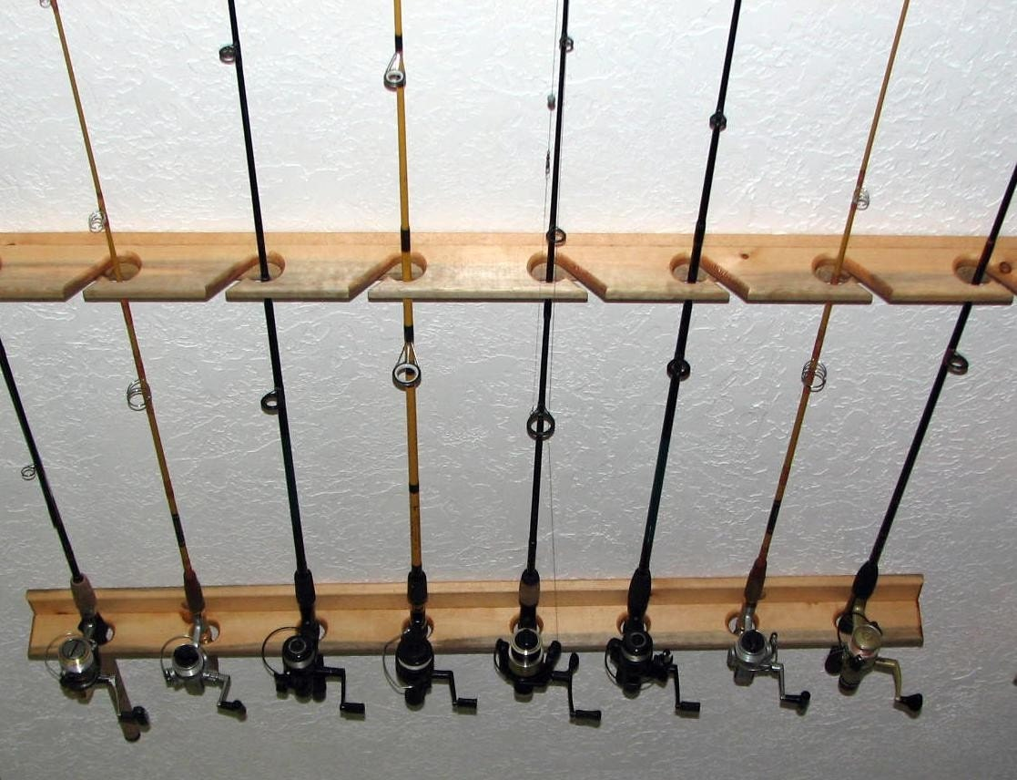 Unavailable listing on etsy for Fishing rod rack
