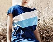 Color slash in blue - best seller jersey dress