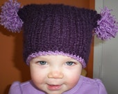 PDF Knitting pattern for the Baby TASSEL HAT - newborn to toddler size / Photography Prop