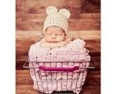 PDF Baby Bear Hat Photography Prop / CROCHET PATTERN 0-6 months