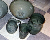 Large porcelain carved peony vase
