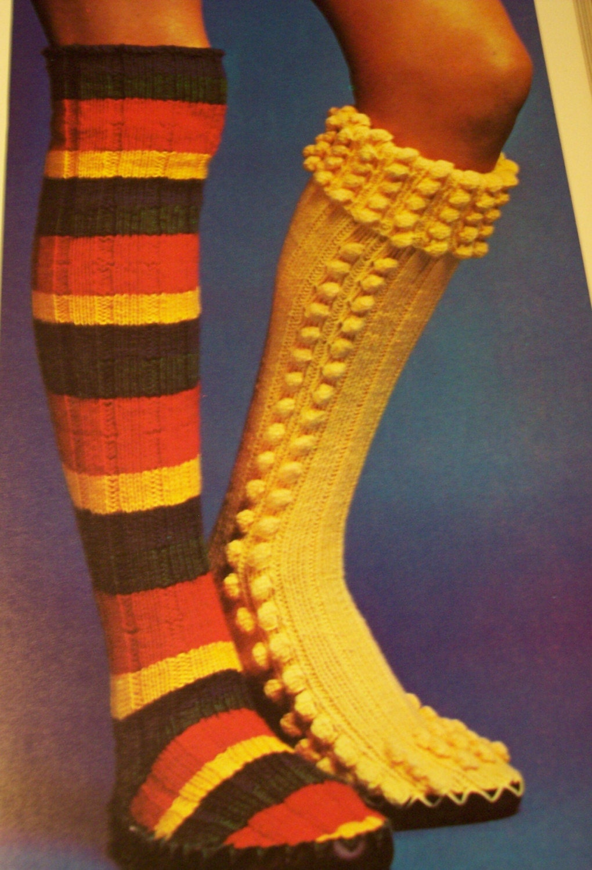 knit pattern thigh high slipper boots