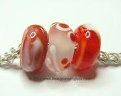 Hot Tango Big Hole Bead Trio For European Charm Bracelets