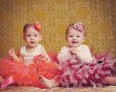 Baby Girls Birthday Tutu Dress Outfit  Blushing Rose Baby Tutu