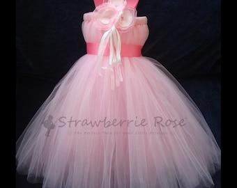 Flower Girl Dress, Little Girls Formal Dresses, Blush Pink Flower Girl Dress