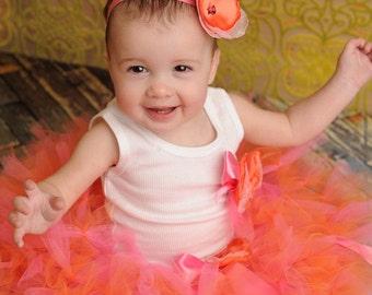 Strawberrie Tangerine Tresor Tutu Dress