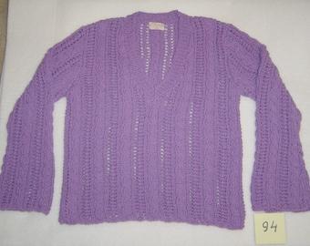 Lilac ajouree sweater no.94